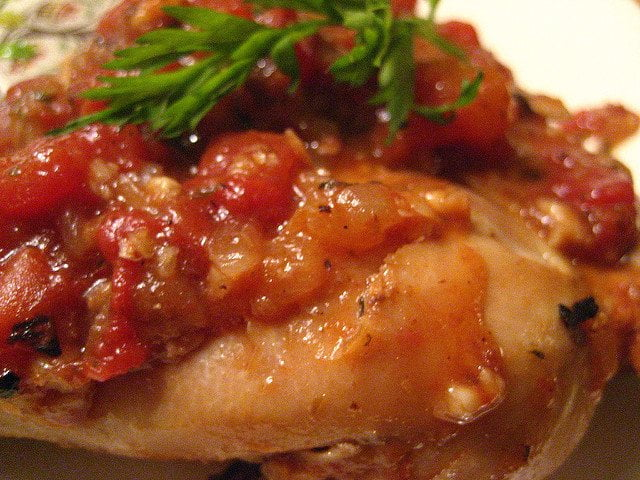 Chichen with Lemon, Herbs and Tomatoes Recipe