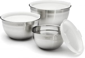 Cuisinart CTG 00 SMB Stainless Steel Mixing Bowls with Lids